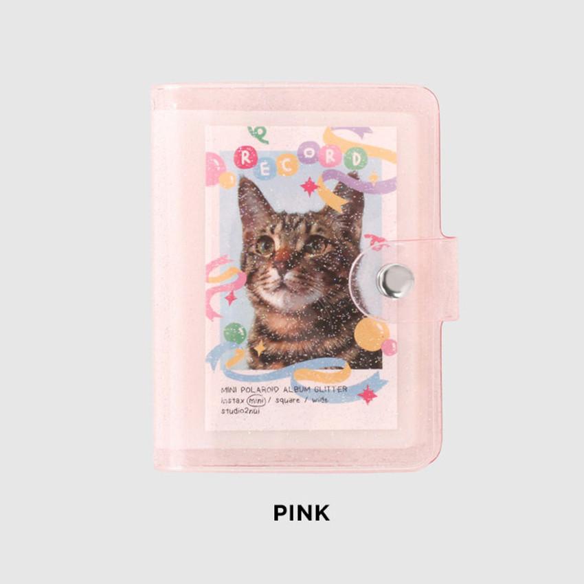 Pink - 2NUL Glitter Instax mini slip in pocket small photo album