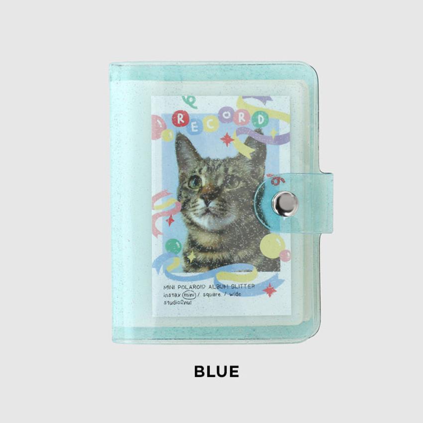 Blue - 2NUL Glitter Instax mini slip in pocket small photo album