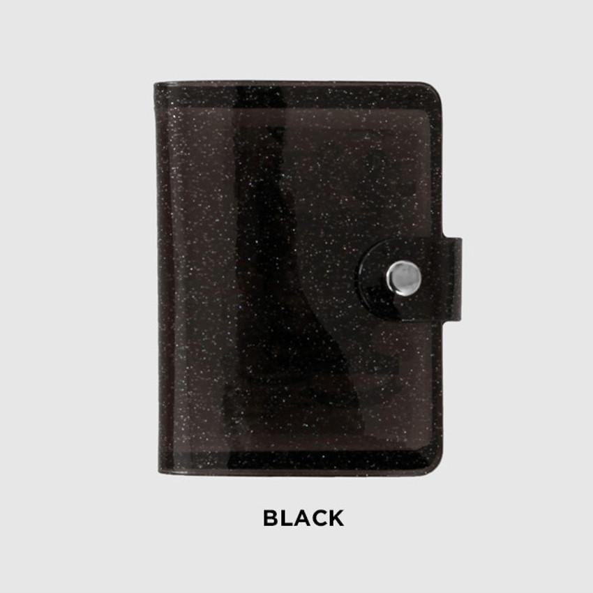 Black - 2NUL Glitter Instax mini slip in pocket small photo album