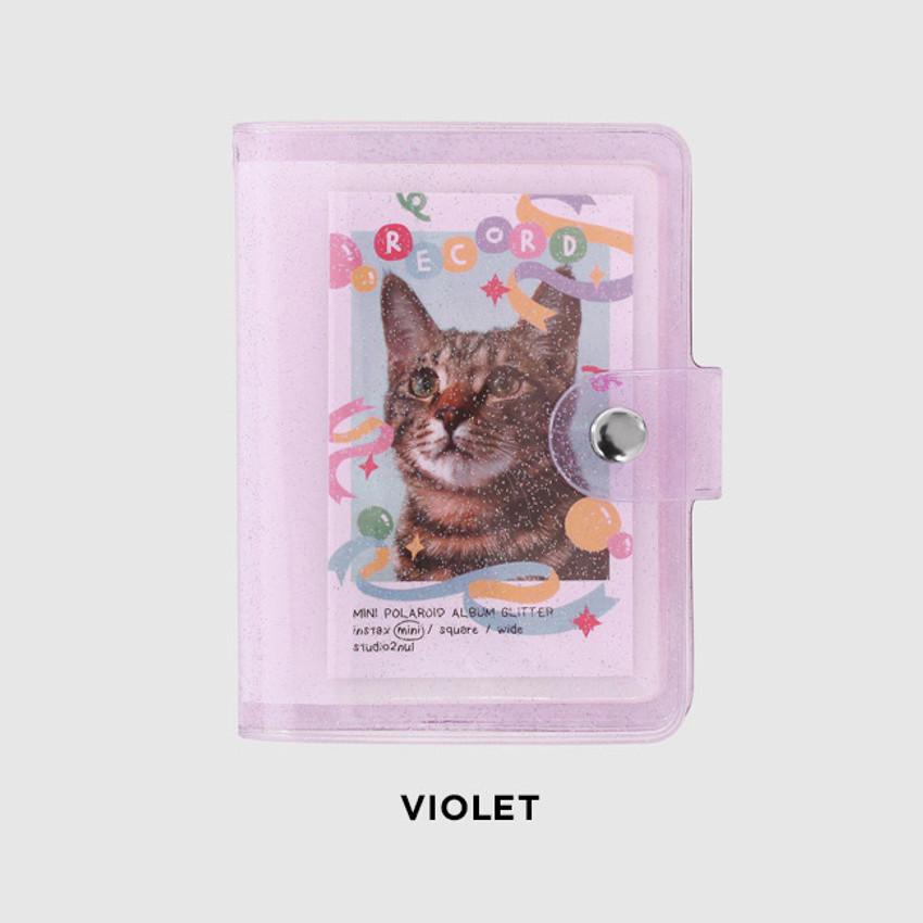 Violet - 2NUL Glitter Instax mini slip in pocket small photo album