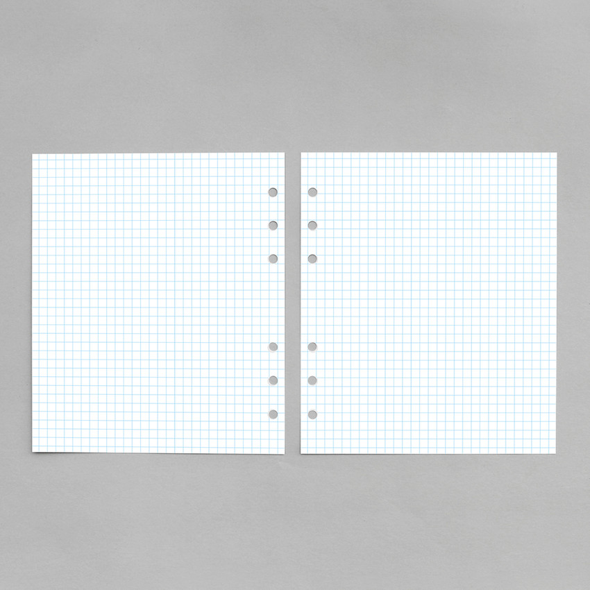 Blue - 2NUL Cherry pick 6-ring planner grid note refill