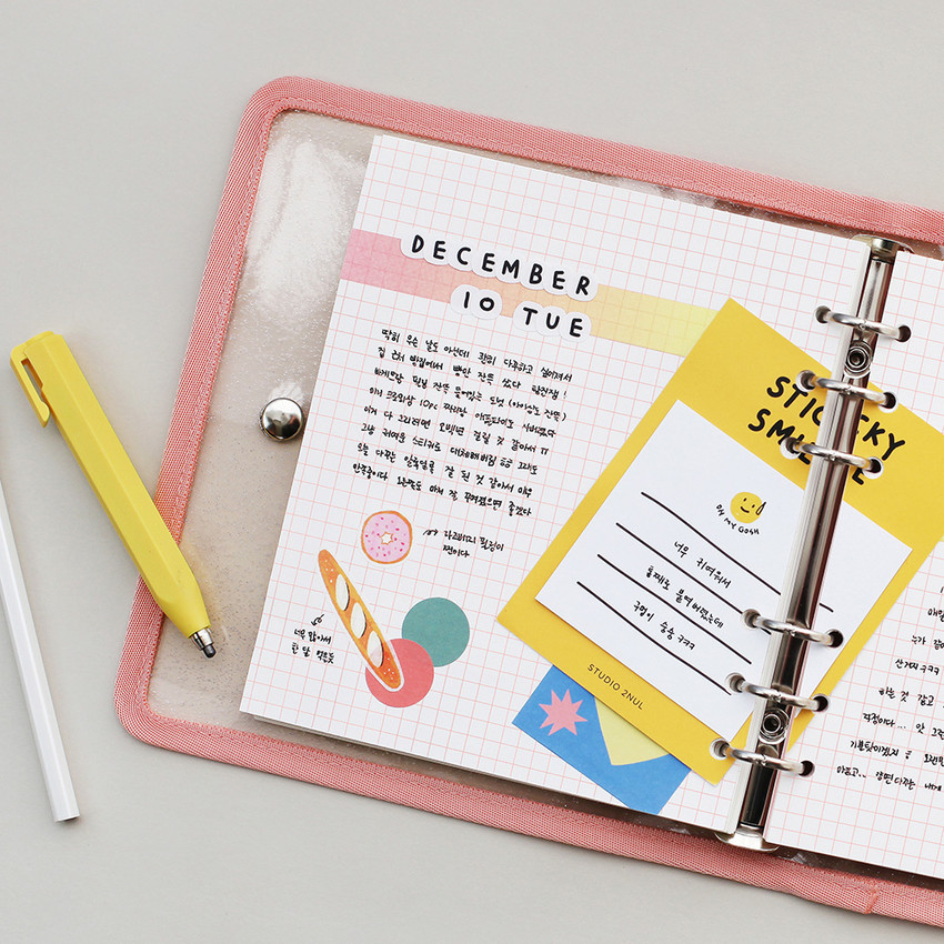 Usage example - 2NUL Cherry pick 6-ring planner grid note refill
