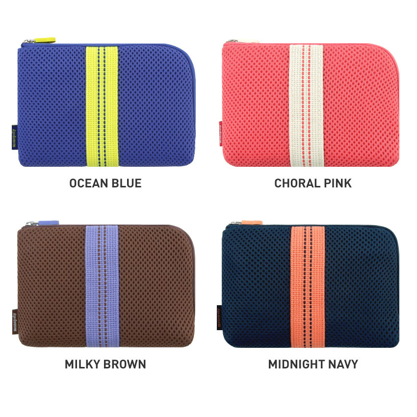 Color - Monopoly Air mesh small cable half zipper case pouch