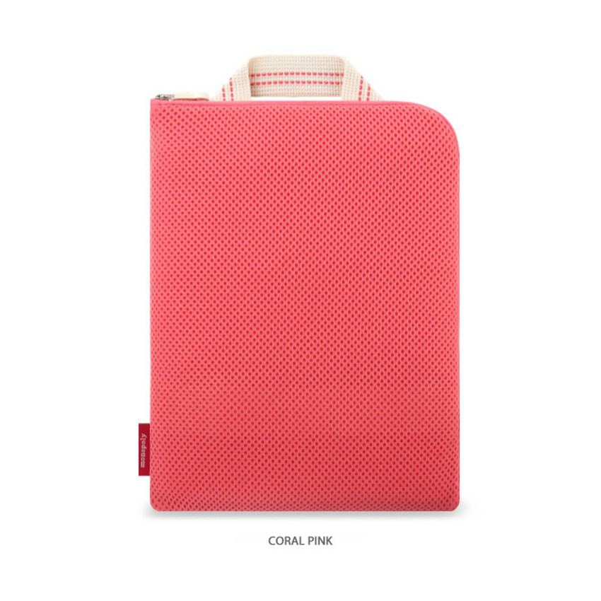 Coral pink - Monopoly Air mesh extra large iPad zipper tote pouch bag