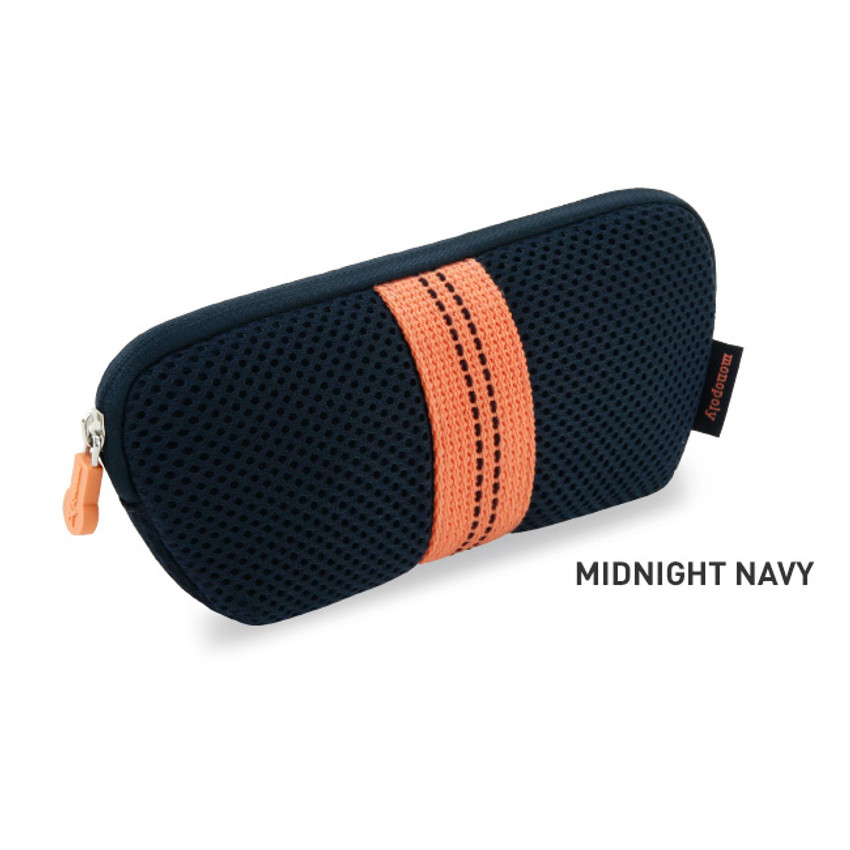 Midnight navy - Monopoly Air mesh glasses zipper pouch bag