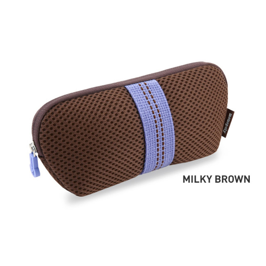 Milky Brown - Monopoly Air mesh glasses zipper pouch bag