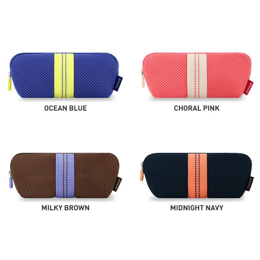 Color - Monopoly Air mesh glasses zipper pouch bag