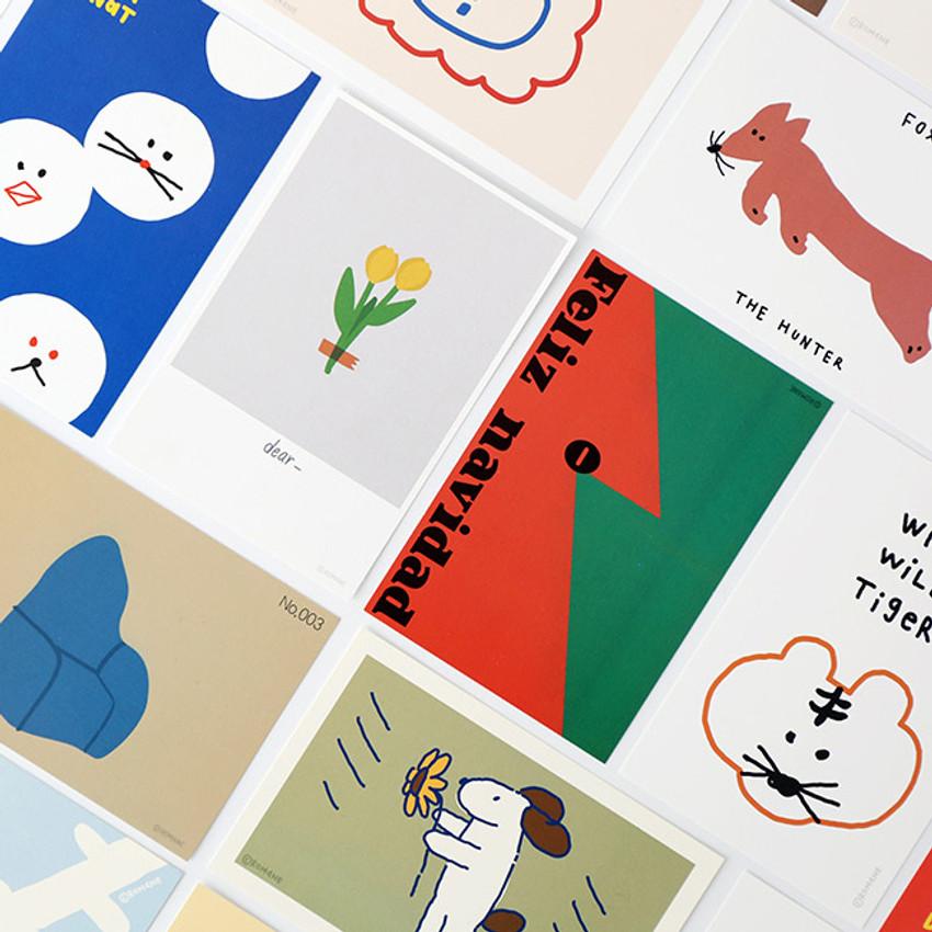 ROMANE Donat brunch brother postcard 4 sheets set