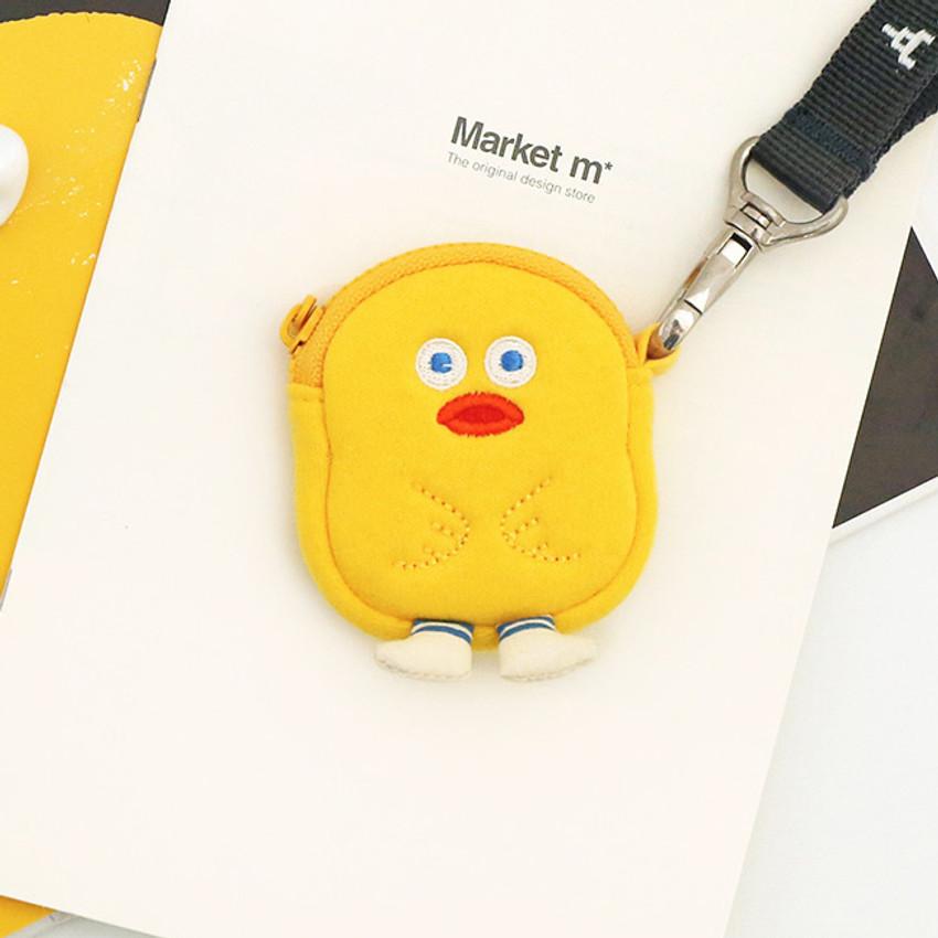 Yellow duck - ROMANE Brunch brother AirPods zipper pouch bag