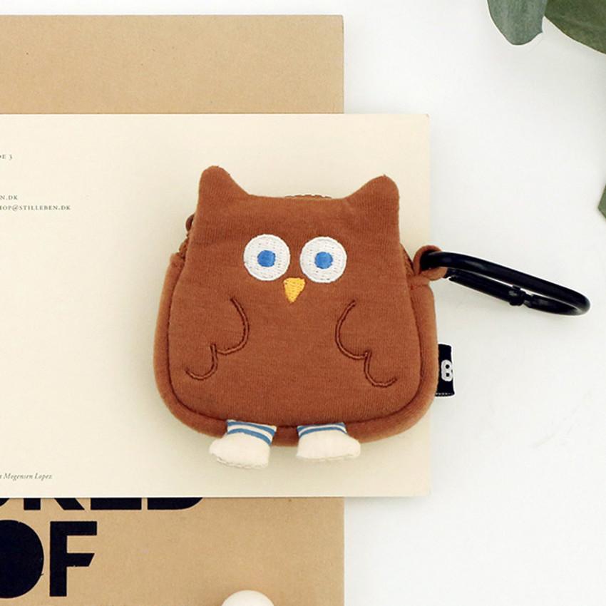 Owl - ROMANE Brunch brother AirPods zipper pouch bag