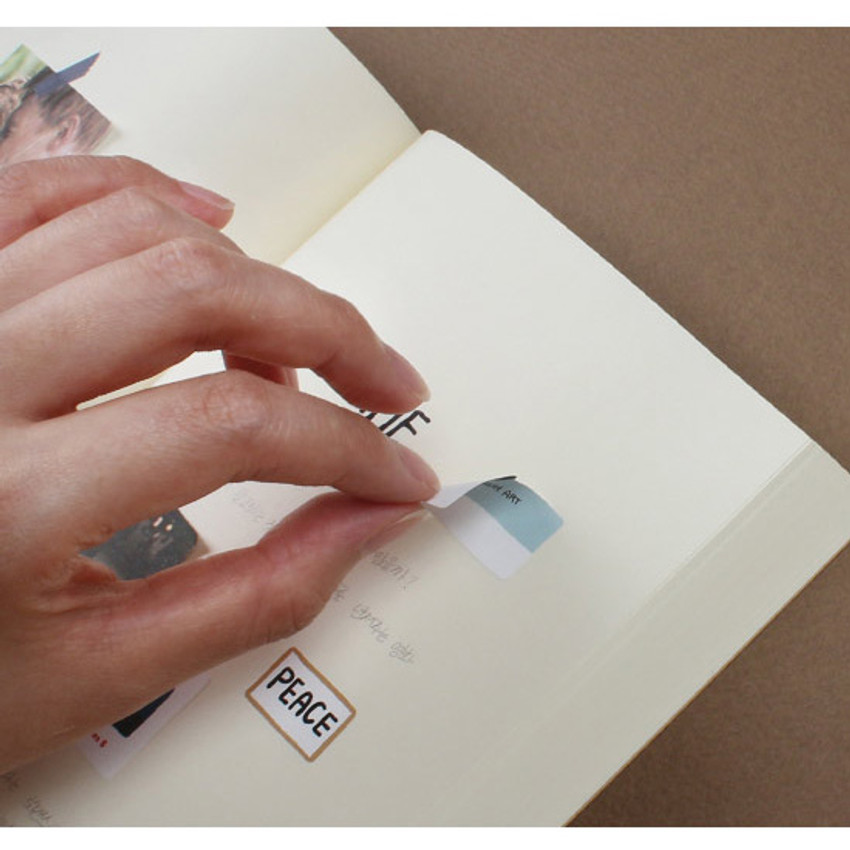 Removable sticker - Wanna This Removable waterproof paper deco sticker