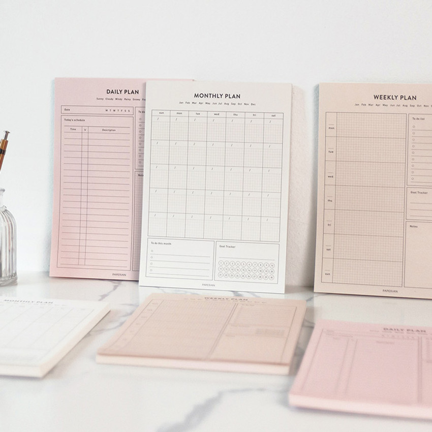 PAPERIAN Lifepad A5 dateless desk planner 60 sheets