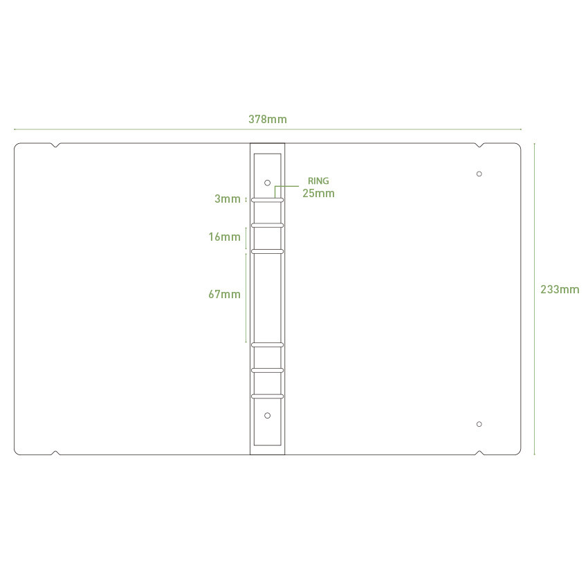 Size - PAPERIAN Hey my days A5 size 6 ring translucent binder