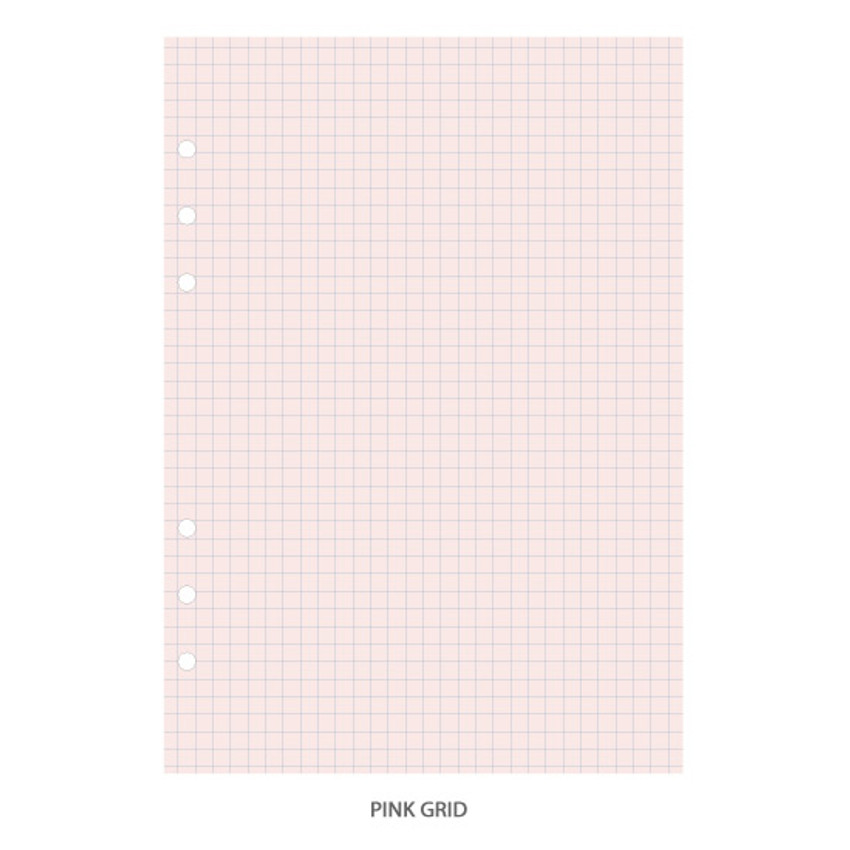 Pink grid - PAPERIAN Lifepad 6-ring A5 size notebook refill