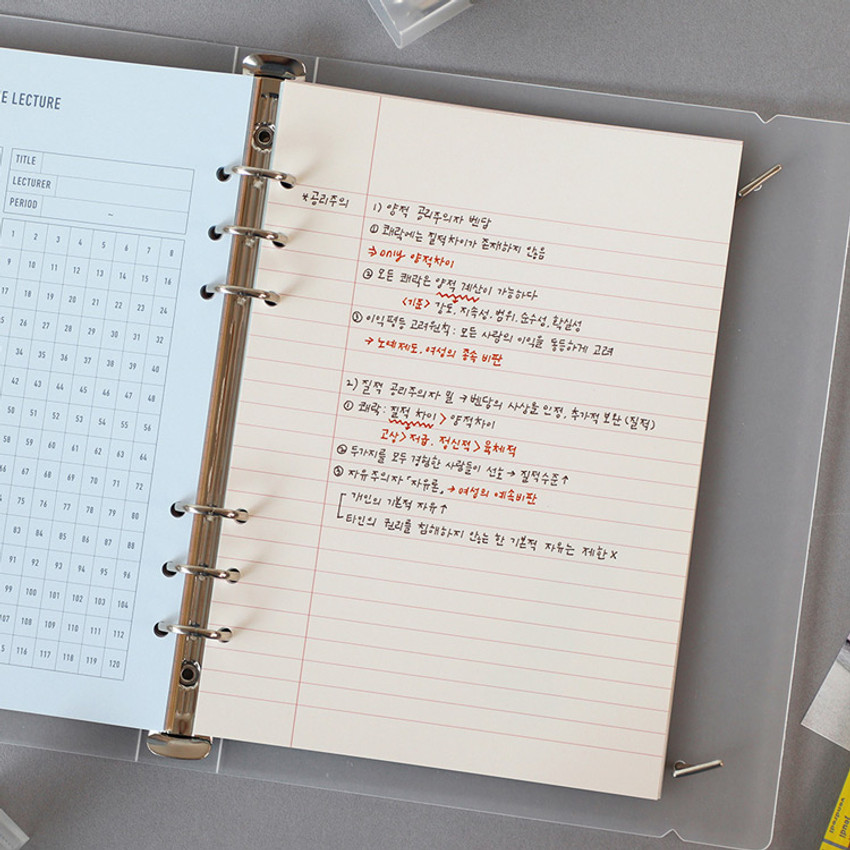 Usage example - PAPERIAN Lifepad 6-ring A5 size notebook refill