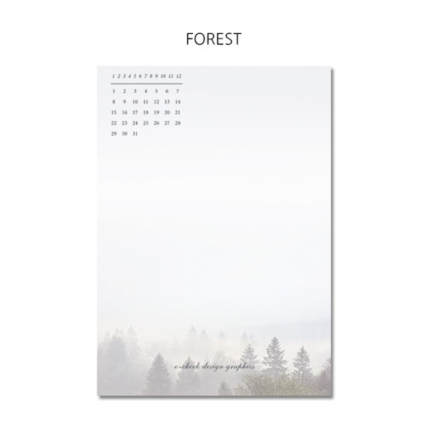 Forest - O-CHECK 365 daily single hole punched memo notepad