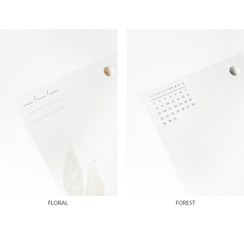Option - O-CHECK 365 daily single hole punched memo notepad