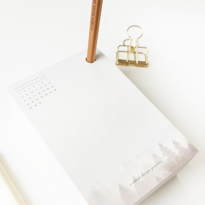 Usage example - O-CHECK 365 daily single hole punched memo notepad