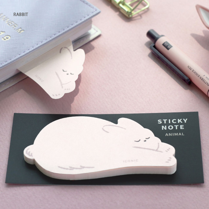 Rabbit - Iconic Animal sticky note 40 sheets