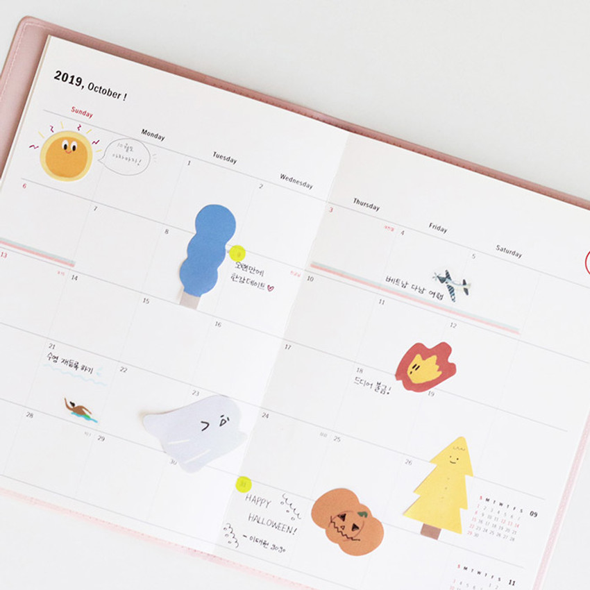 Usage example - Iconic Mini buddy sticky note memo set