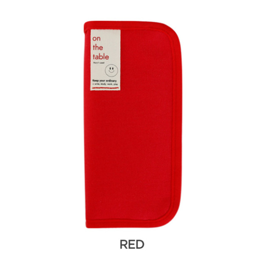 Red - After The Rain On the table zipper pencil case pouch
