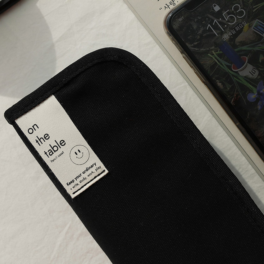 Black - After The Rain On the table zipper pencil case pouch