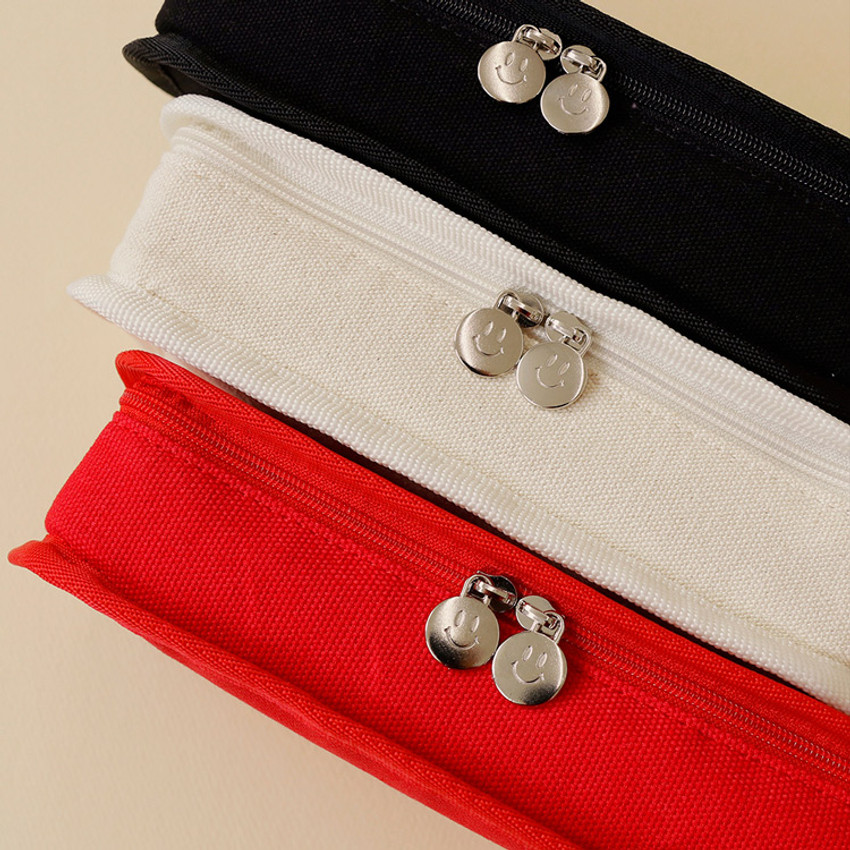 Double zipper pouch - After The Rain On the table zipper pencil case pouch