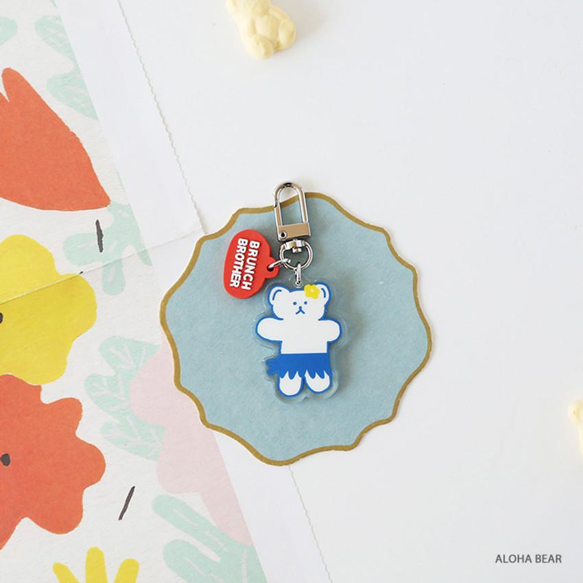 Aloha bear - ROMANE Brunch Brother Donat Donat Acrylic keyring keychain