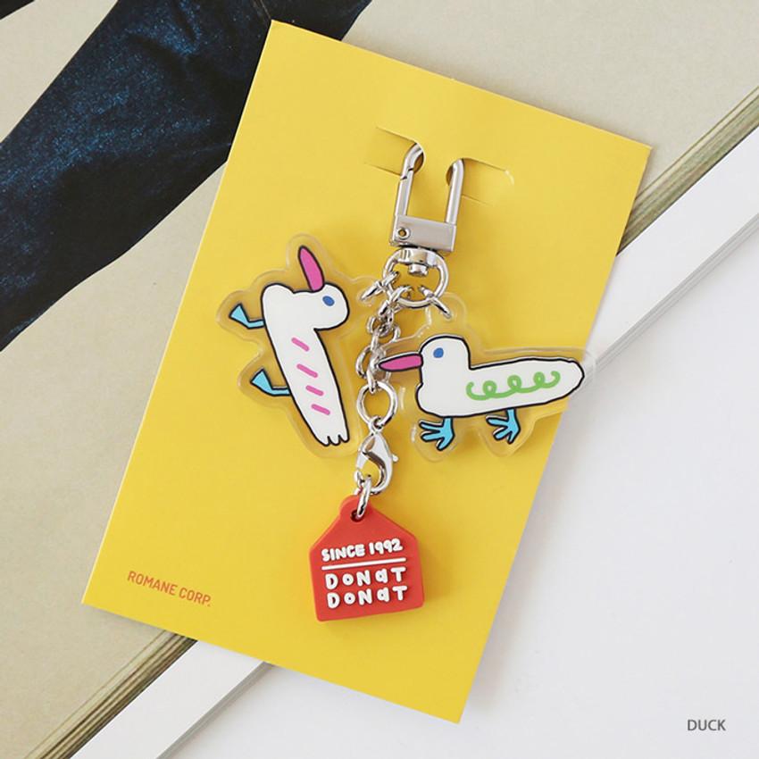 Duck - ROMANE Brunch Brother Donat Donat Acrylic keyring keychain