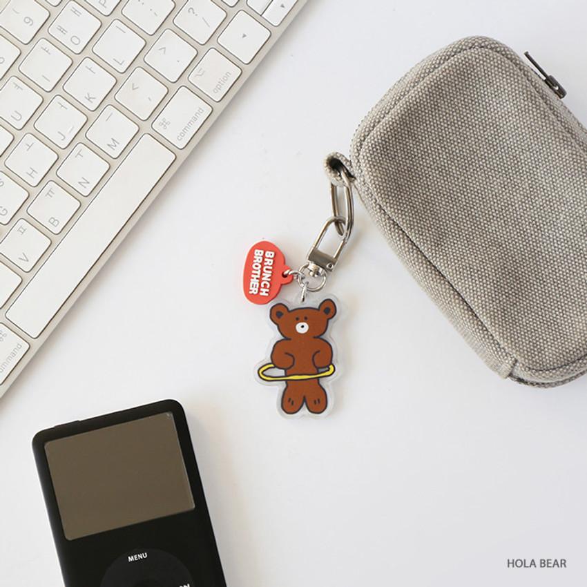 Hola bear - ROMANE Brunch Brother Donat Donat Acrylic keyring keychain