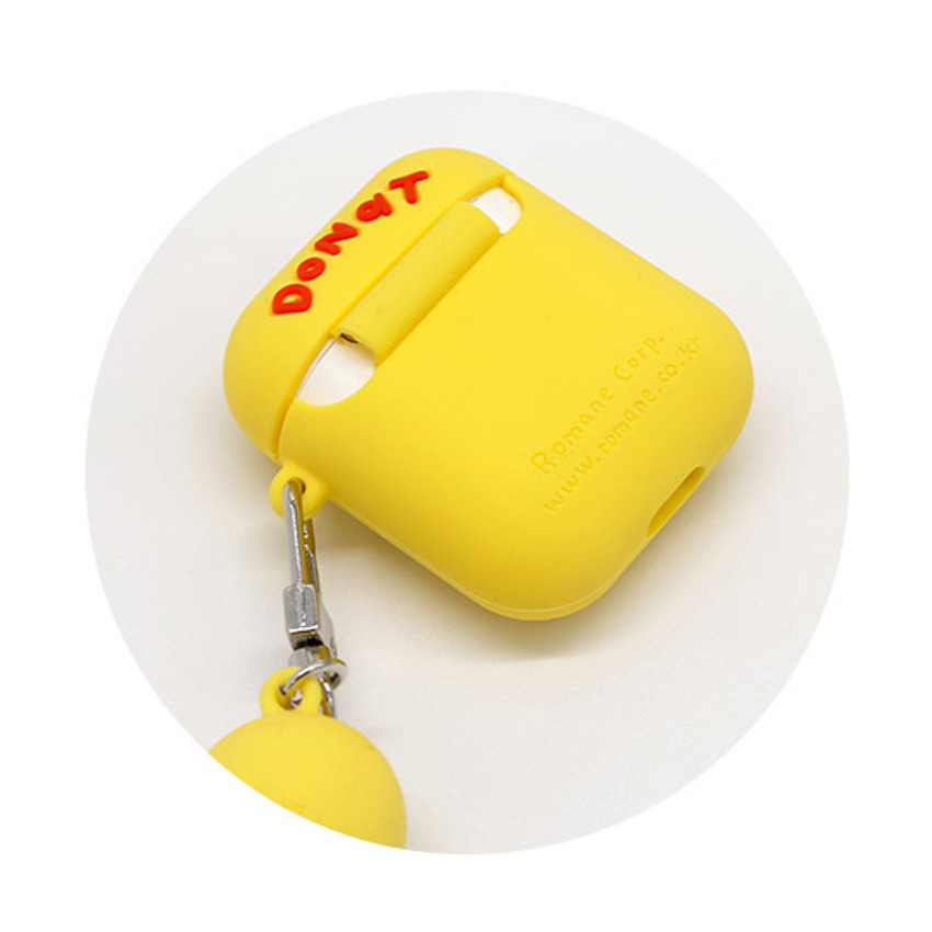 ROMANE Donat Donat AirPods case silicone cover with Keyring