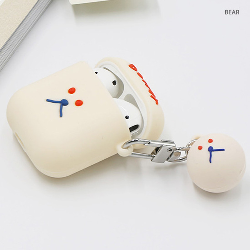 Bear - ROMANE Donat Donat AirPods case silicone cover with Keyring