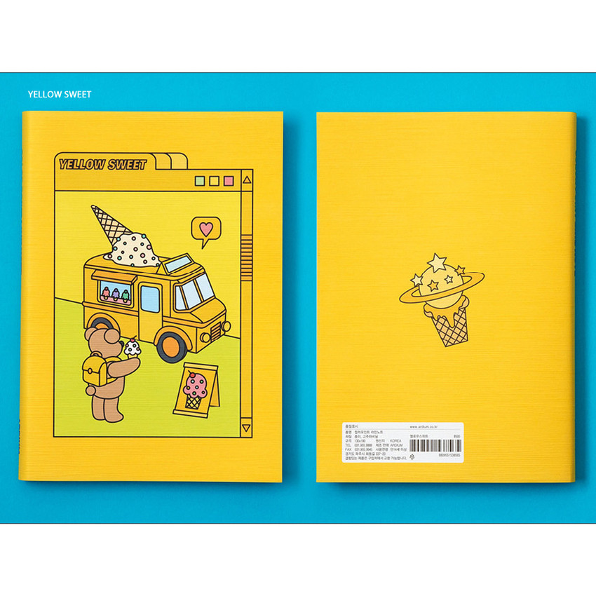Yellow - Ardium Color point lined notebook 160 pages