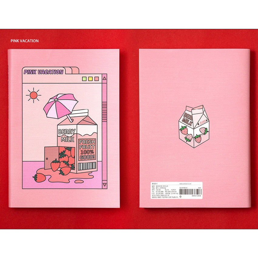 Pink - Ardium Color point lined notebook 160 pages