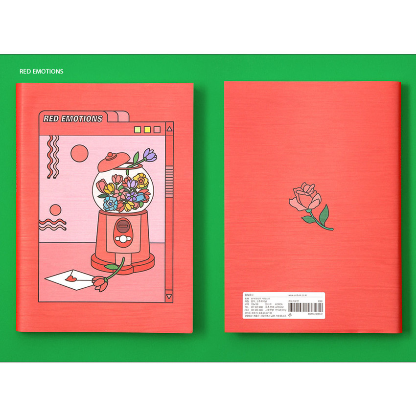 Red - Ardium Color point lined notebook 160 pages