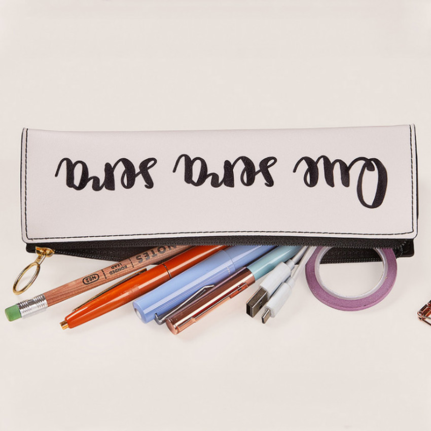 Lettering - Antenna Shop Triangle synthetic leather zipper pencil case