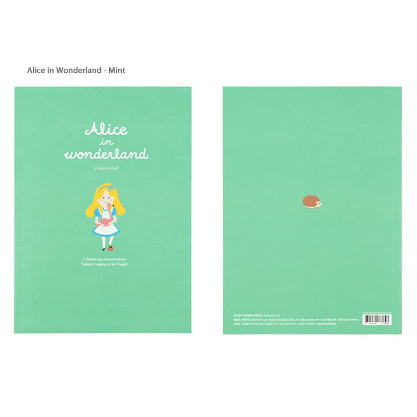 Alice in Wonderland Mint - Bookfriends World literature lined school study notebook