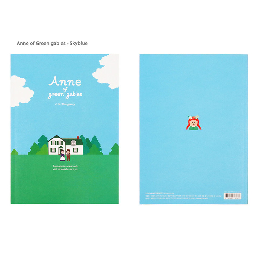 Anne of green gables Skyblue - Bookfriends World literature lined school study notebook