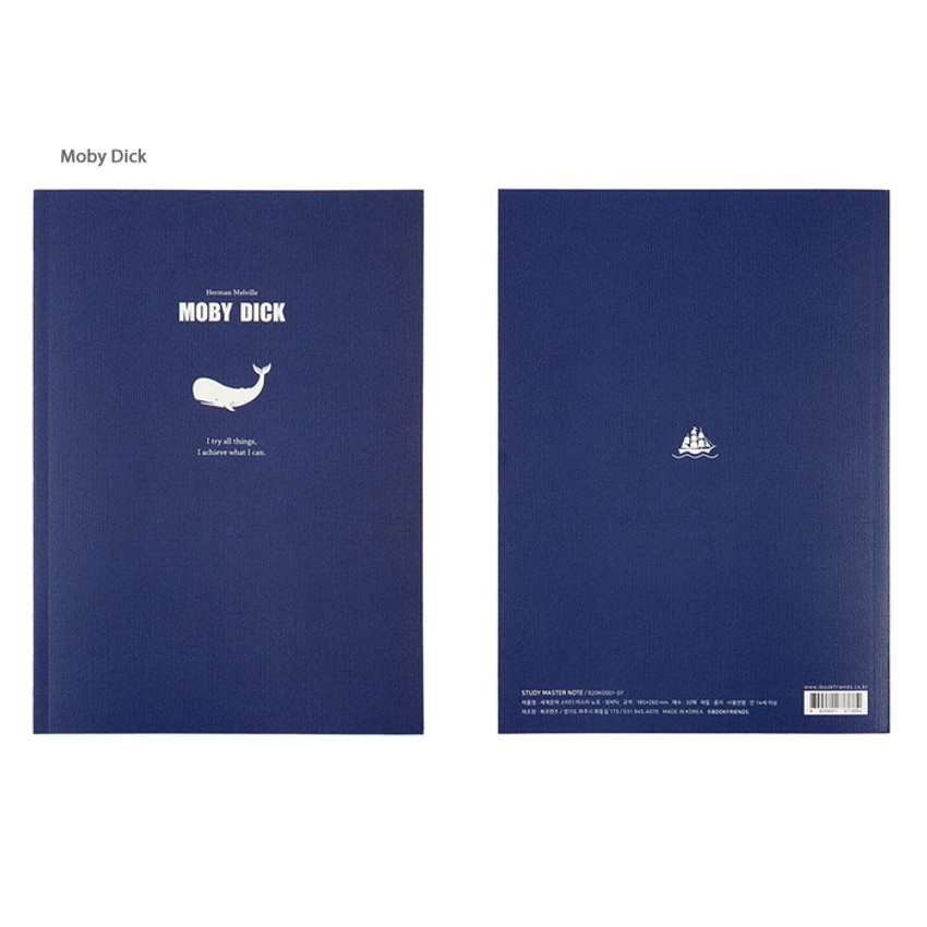 Moby Dick - Bookfriends World literature lined school study notebook