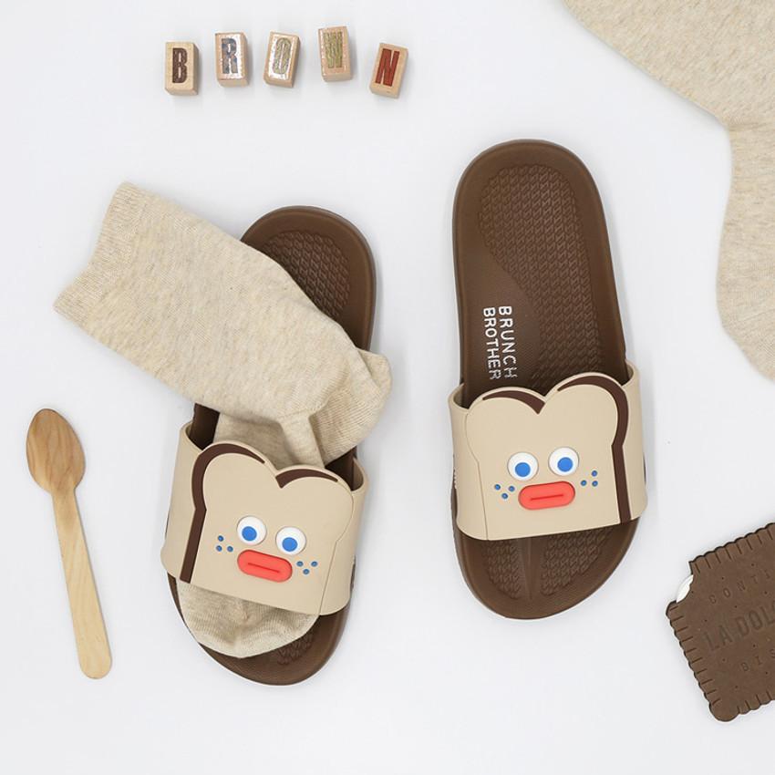 ROMANE Brunch Brother popeye toast slide slipper sandal