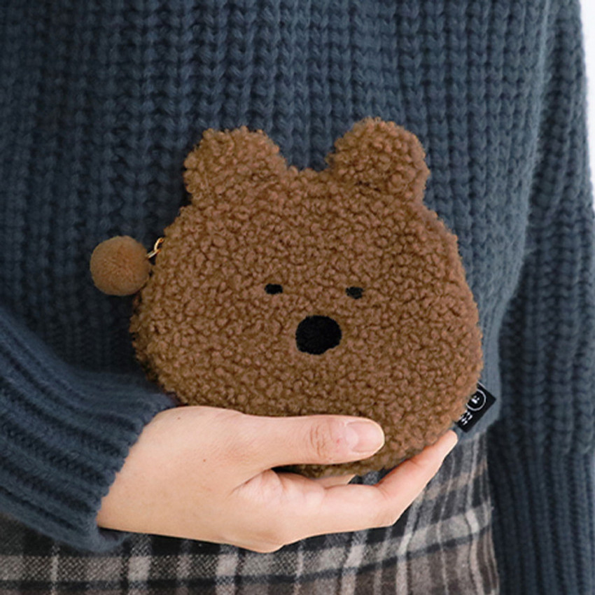 Bear - Iconic Furry buddy flat zipper pouch