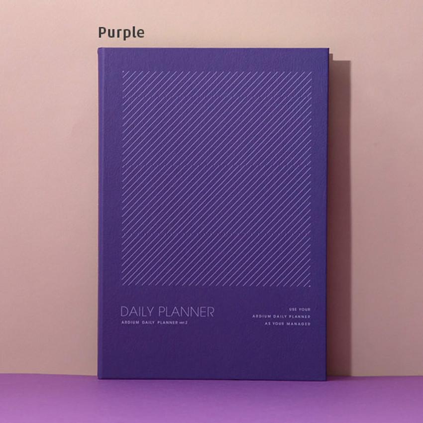 Purple - Ardium 12 months dateless daily planner scheduler ver2