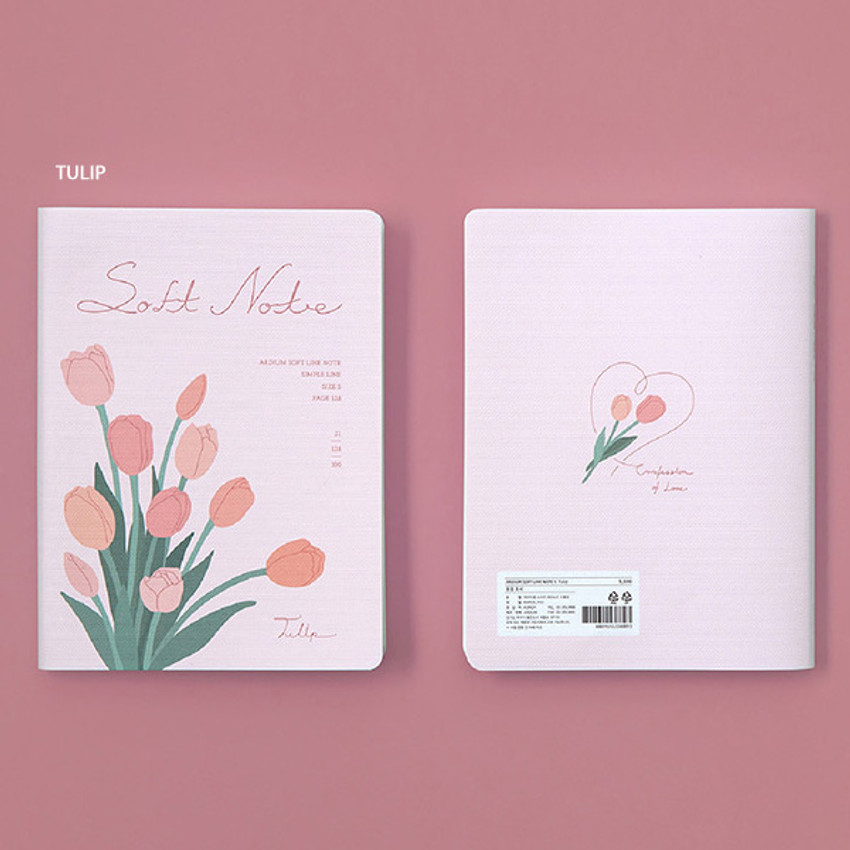 Tulip - Ardium Soft small lined notebook 128 pages