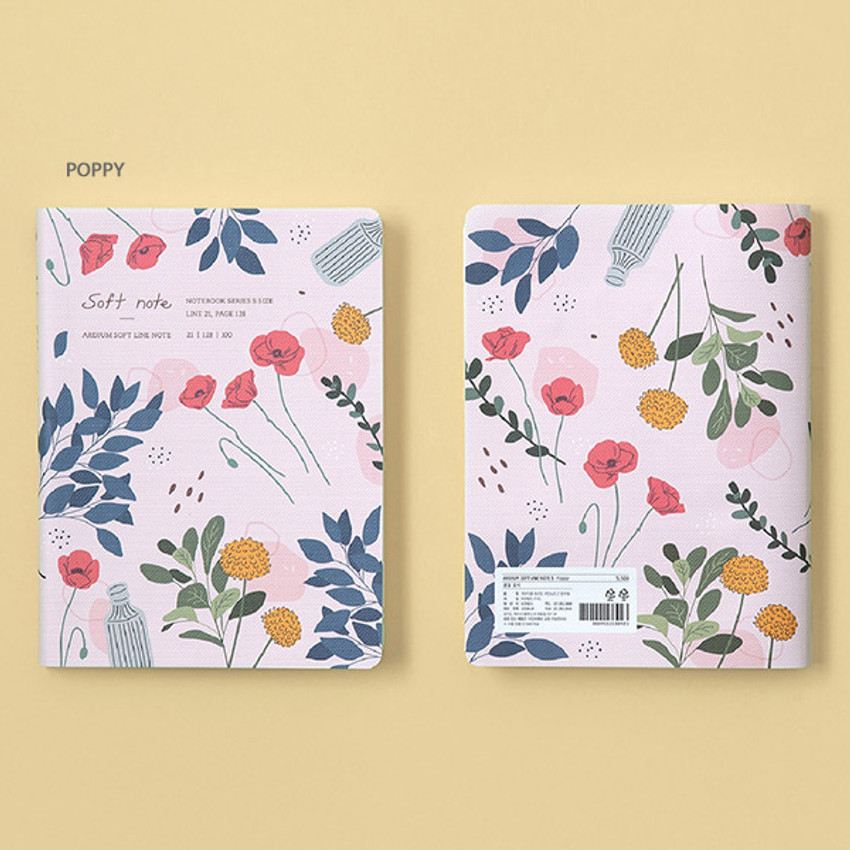 Poppy - Ardium Soft small lined notebook 128 pages