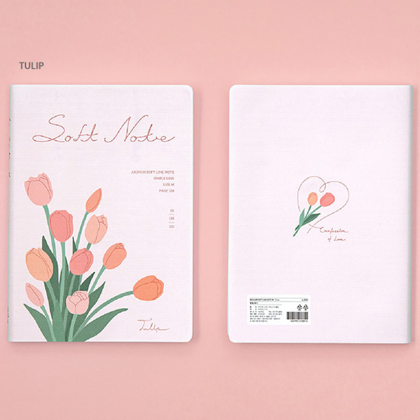 Tulip - Ardium Soft medium lined notebook 128 pages