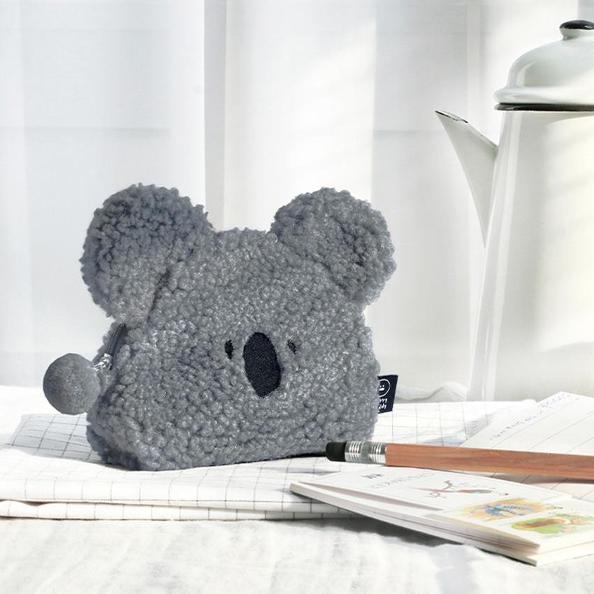Koala - Furry buddy small cosmetic pouch bag