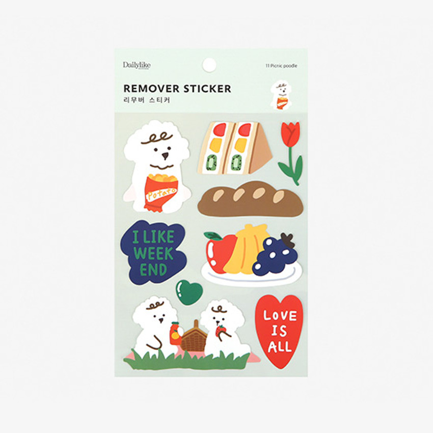 Package - Dailylike Picnic poodle removable paper deco sticker