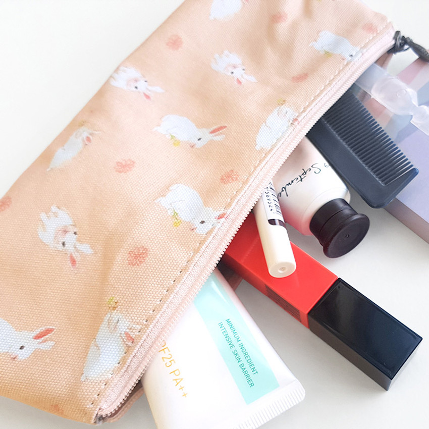 Usage example - O-CHECK Rabbit cotton zipper pencil case pouch