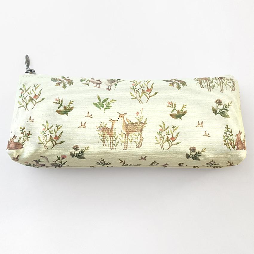 O-CHECK Harmony cotton zipper pencil case pouch