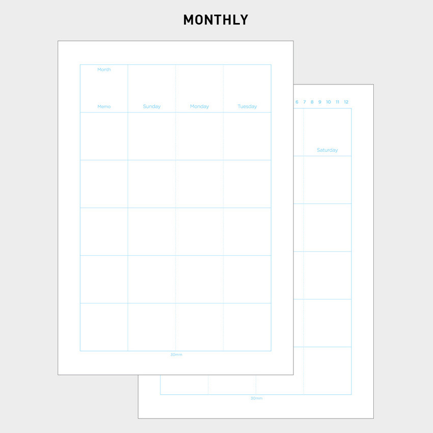 2NUL Editor pick 6-ring planner monthly plan refill